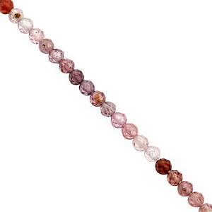 22cts Burmese Multi Spinel Faceted Round Approx 4mm, 18cm Strand