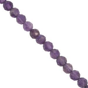 35.00cts Zambian Amethyst Faceted Round Approx 4mm 15'' Strand