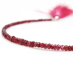 Red Spinel Gemstone Strands