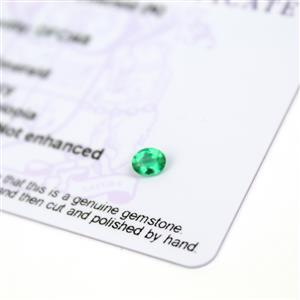 0.25cts Ethiopian Emerald 5x4mm Oval  (N)