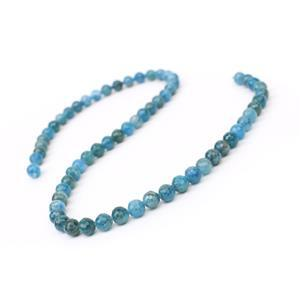 90cts Apatite Micro Faceted Rounds Approx 6mm, 38cm