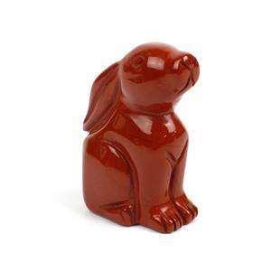 "2"" Red Jasper Moon Gazing Hare"