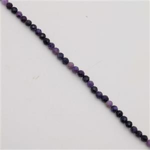 30cts Fluorite Stone Faceted Rounds Approx 4.5mm, 38cm Strand