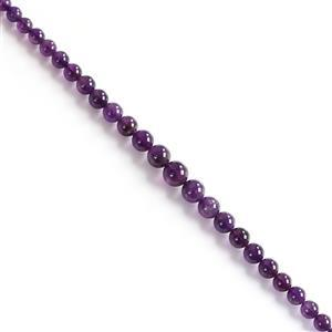 180cts Amethyst Graduated Plain Rounds Approx from 5 to 12mm, 40cm strand