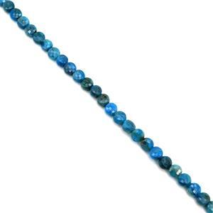 80cts Apatite Faceted Coins Approx 6mm, 38cm Strand