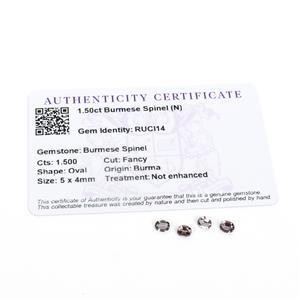 1.5cts Burmese Spinel 5x4mm Oval Pack of 4 (N)
