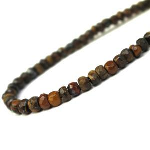 50cts Yellow Tiger's Eye Faceted Rondelles Approx 3-5mm, 33cm Strands