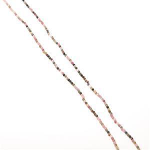 "50cts Multi Tourmaline Faceted Rounds Approx 3mm, 36"" Strand"