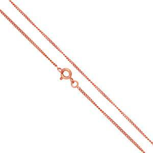 """Copper Plated Brass Finished Fine Curb Chain, 18""""  (5pk)"""
