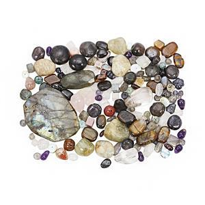 500cts Multi-Colour Drilled Loose Gemstone Mix Shapes & Sizes