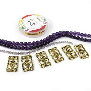 Purple Reign Inc: 155cts Amethyst Faceted Rounds Approx 8mm, 38cm Strand