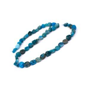 """160cts Neon Apatite Medium Nuggets Approx 6x12mm, 15"""" Strand"""