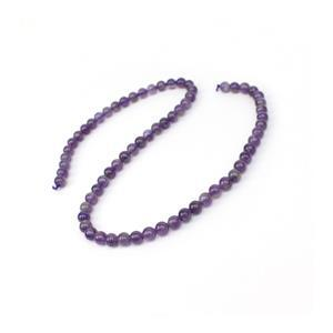 """90cts Amethyst Plain Rounds Approx 6mm 15-16"""""""