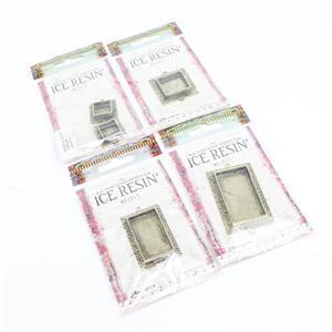 Ice Resin Antique Bronze Rectangle Bezel Collection.