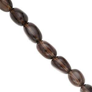 125cts Smoky Quartz Graduated Smooth Tumbles Approx 7x5 to 13x8mm, 38cm Strand