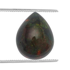 1.25cts Ethiopian Black Opal 10x8mm Pear  (S)