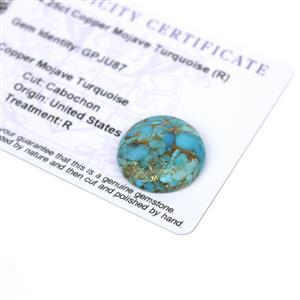 14.25cts Copper Mojave Turquoise 20x20mm Round  (R)