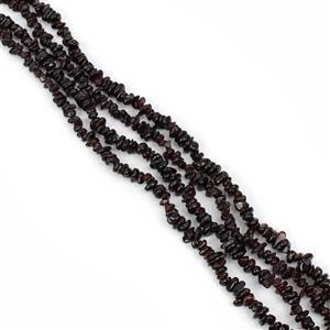 "1018cts Garnet Chips Approx 4x7 to 5x8mm, 100"" Endless Chips Strands"