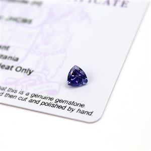 0.55cts  Tanzanite 6x6mm Triangle  (H)