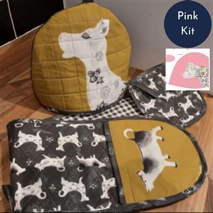 Debbie Shore's Pink Cow Creamer Kitchen Set Kit: Instructions & Panel