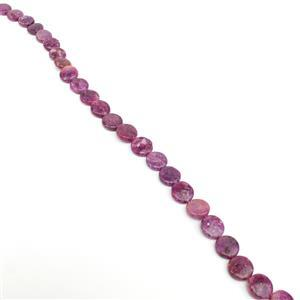 220cts Lepidolite Puffy Coins Approx 14mm, 38cm