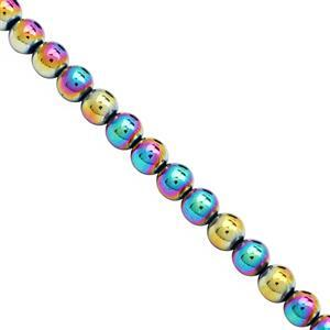 330cts Rainbow Haematite Plain Round Approx 8mm, 39cm Strand