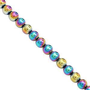 330cts Rainbow Haematite Plain Round Approx 8mm, 39cm Strand