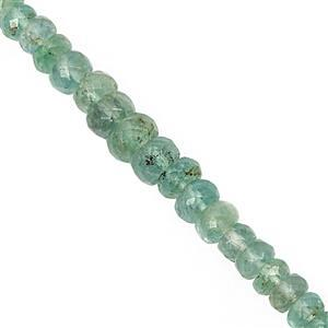 15cts Ethiopian Emerald Graduated Faceted Rondelle Approx 2x1 to 5.5x3.5mm, 15cm Strand