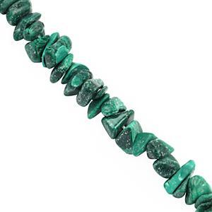 """200cts Malachite Bead Nugget Approx 3.5x1.5 to 8x2.5mm, 32"""" Strand"""