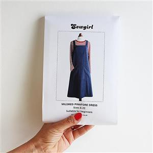 Sewgirl Mildred Pinafore Dress Sewing Pattern: Sizes 8-22