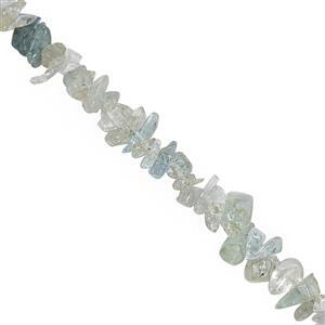 390cts Aquamarine Bead Nugget Approx 3x2 to 10x3mm, 100inch Strand