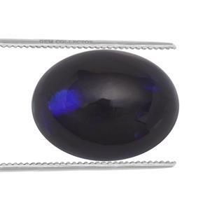 1.15cts Ethiopian Black Opal 10x8mm Oval  (S)