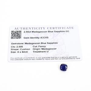 2.5cts Madagascan Blue Sapphire 8x8mm Fancy  (D)
