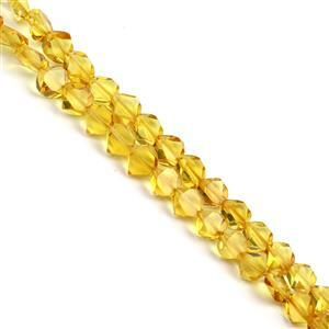 Baltic Lemon Amber Faceted Beads Approx. 4x10mm, 38cm Strand