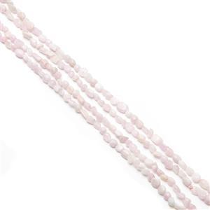 """355cts Kunzite Nuggets Approx 8x5mm, 60"""" Endless Strand"""