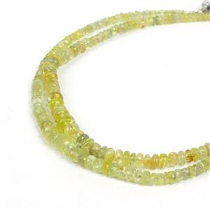 Double Trouble Chrysoberyl Graduated Faceted Rondelles Approx 2x1 to 5x2mm & 2x1 to 4x3mm.