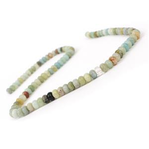 100cts Chinese Multi-colour Amazonite Plain Rondelles Approx 6x4mm, 38cm