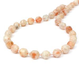 170cts Sunstone Fancy Faceted Beads Approx 10x9mm, 38cm