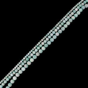 "315cts Multi-Colour Amazonite Frosted Rounds Approx 4 to 8mm, 15"" Strand"