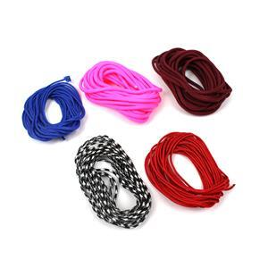 Paracord Cord Bundle! Bright Pink, Dark Red, Blue, Red and Black/White