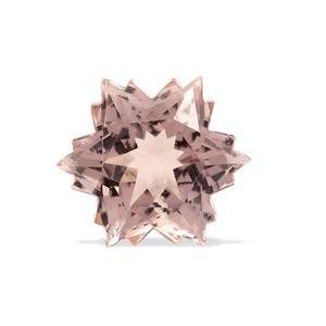 4.2cts Peach Morganite 10x10mm Snowflake  (I)