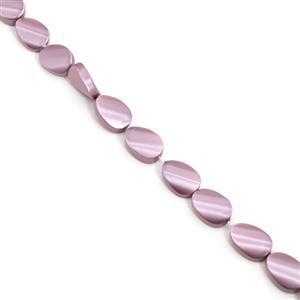 Pale Raspberry Fancy Oval Shell Pearls Approx 25X18mm, 38cm Strand