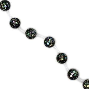 Abalone Mosaic Rounds Approx 20mm, 10pcs/strand