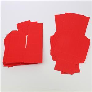 Red Silk Box & Lid 50mm 5pk