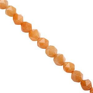 102cts Peach Quartz Faceted Star Cut Approx 7 to 7.50mm, 28cm Strand