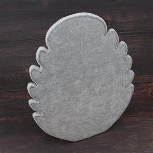 Grey Velvet Flannette Necklace Stand Approx 29x21cm