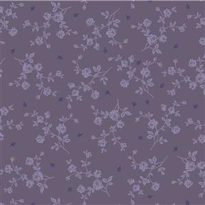 Vintage Roses in Purple Fabric 0.5m