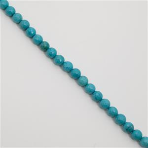 240cts Dyed Blue-Green Magnesite Faceted Rounds Approx 10mm, 38cm Strand