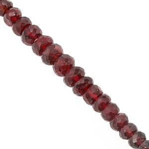 15cts Mogok Jedi Red Spinel Graduated Faceted Rondelle Approx 2.5x1 to 4x2mm, 10cm Strand