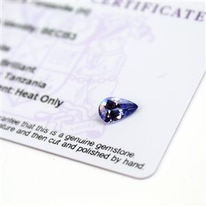0.9cts  Tanzanite 9x6mm Pear  (H)